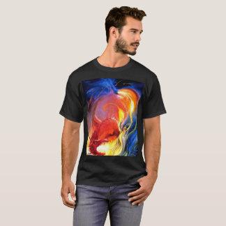 Camiseta Mágica do fogo do dragão do feiticeiro do