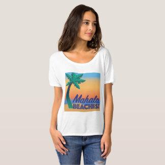 Camiseta Mahalo encalha o T do pescoço da colher