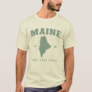 Camiseta Maine -- O estado do pinheiro