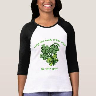 Camiseta Maio o o da sorte o irlandês seja com você!