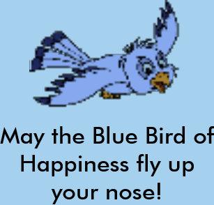 8773fbb86a Camiseta Maio o pássaro azul do nariz do upyour da mosca da