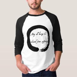 """Camiseta """"Maio todos os seres sejam liberados"""" do tshirt de"""