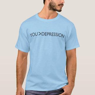 Camiseta Maior do que a depressão (você)