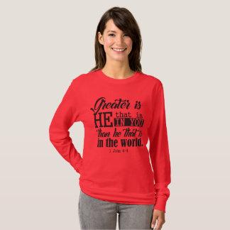 Camiseta Maior é! t-shirt longo da luva