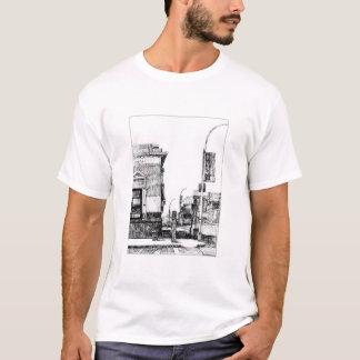 "Camiseta ""Mais baixo canto da zona leste"" por portas de"