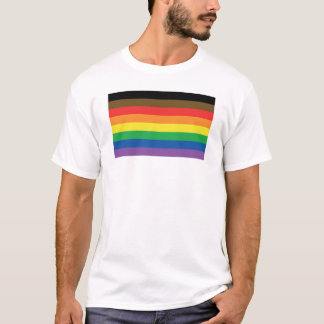 Camiseta Mais colorem mais arco-íris LGBT customizável do