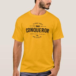 """Camiseta """"Mais do que Tshirt cristão de um conquistador"""""""