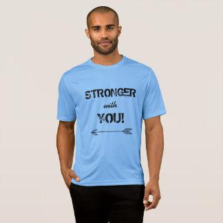 Camiseta MAIS FORTE com você azul de Carolina do namorado