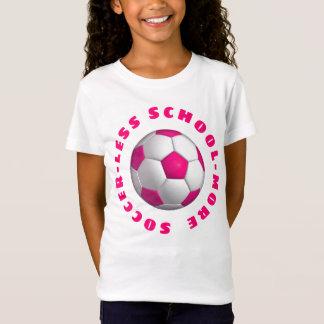 Camiseta Mais rosa do futebol