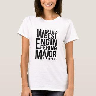 Camiseta Major da engenharia do mundo o melhor