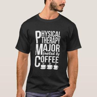 Camiseta Major da fisioterapia abastecido pelo café