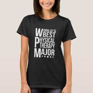 Camiseta Major da fisioterapia do mundo o melhor