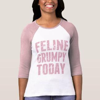 Camiseta Mal-humorado felino hoje