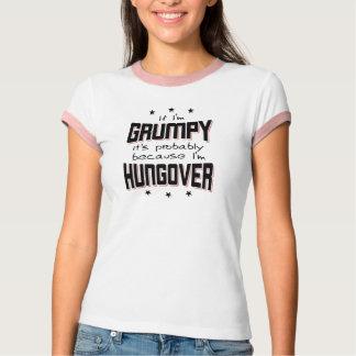 Camiseta MAL-HUMORADO porque HUNGOVER (preto)