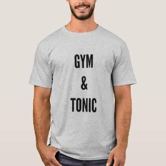Camiseta malhação engraçada do gym & do tónico do