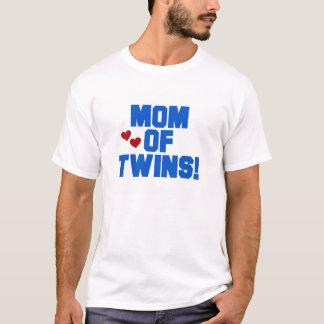 Camiseta Mamã azul dos gêmeos