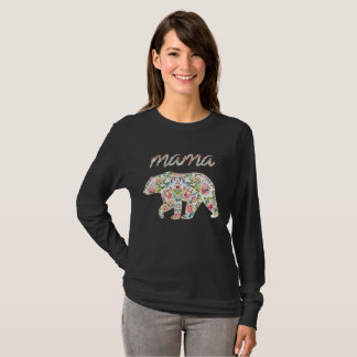 Camiseta Mama Carregamento Floral T, gráfico da mamã