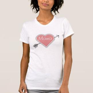 Camiseta Mama com coração e seta