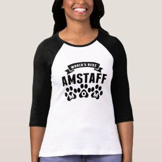 Camiseta Mamã do AmStaff do mundo a melhor