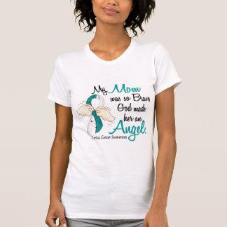 Camiseta Mamã do cancro do colo do útero do anjo 2