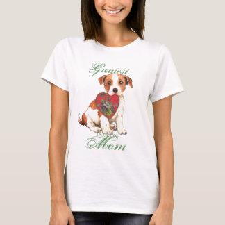 Camiseta Mamã do coração de Russell Terrier do Parson