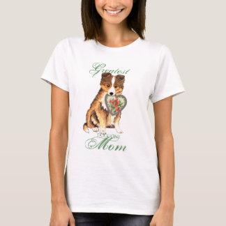 Camiseta Mamã do coração de Sheltie