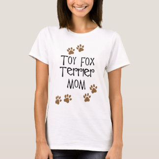 Camiseta Mamã do Fox Terrier do brinquedo