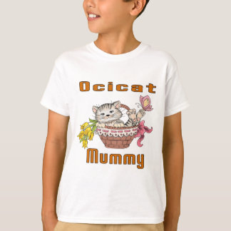 Camiseta Mamã do gato de Ocicat