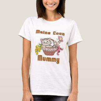 Camiseta Mamã do gato de racum de Maine