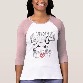 Camiseta Mamã do mundo do Dachshund a melhor
