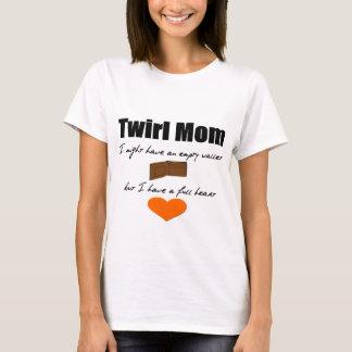 Camiseta Mamã do Twirl: Coração vazio do cheio da carteira