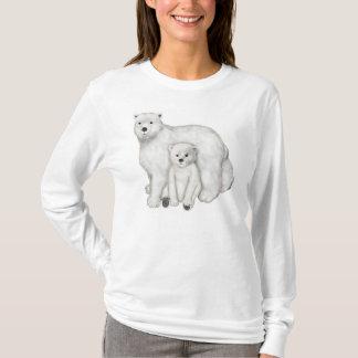 Camiseta Mamã e Cub do urso polar