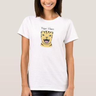 Camiseta Mamã engraçada irritada do gato grande da mãe do