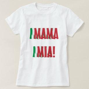 Camiseta Mama Mia Italiano Bandeira Cor Italia 48a8773ba2886