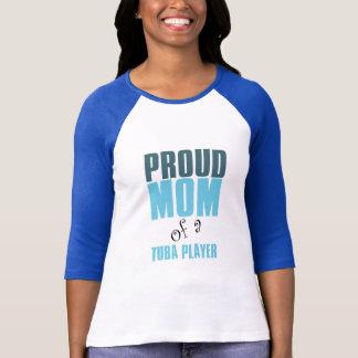 Camiseta Mamã orgulhosa de um jogador da tuba