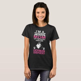 Camiseta Mamã orgulhosa do cão de german shepherd