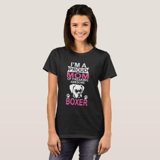 Camiseta Mamã orgulhosa do cão do pugilista
