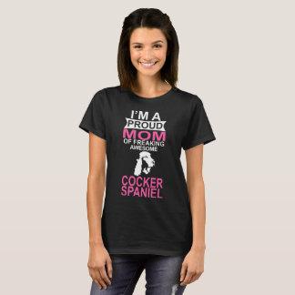 Camiseta Mamã orgulhosa do cão do Spaniel de Coker