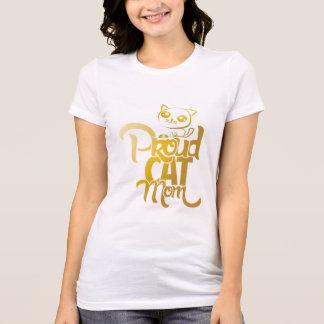 Camiseta mamã orgulhosa do gato