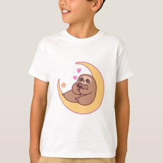 Camiseta Mama Preguiça e bebês da lua