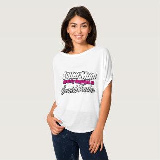 Camiseta Mamã super disfarçada inteligente como o professor