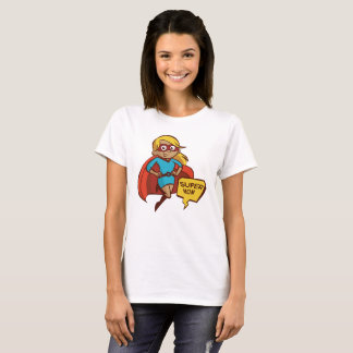 Camiseta Mamã super do vôo colorido