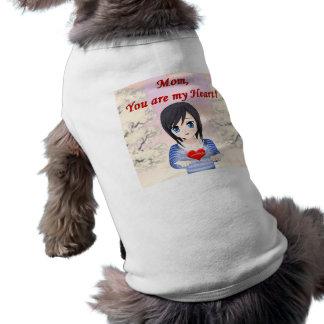 Camiseta Mamã, você é meu coração (customizável)