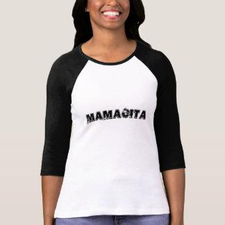 Camiseta Mamacita 3/4 de Raglan da luva (cabido)