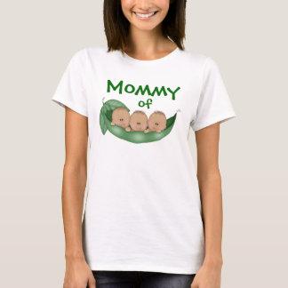 Camiseta Mamães de meninos da objectiva tripla com pele