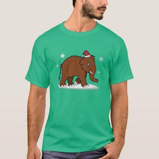 Camiseta Mammoth Woolly no chapéu do papai noel