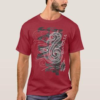 Camiseta Manaia - guardião (escrita de prata)