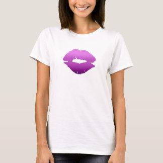 Camiseta Mancha/roxo do beijo