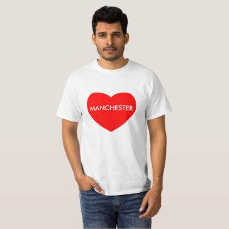 Camiseta Manchester no coração vermelho imprimiu no t-shirt
