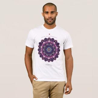 Camiseta Mandala da felicidade unisex